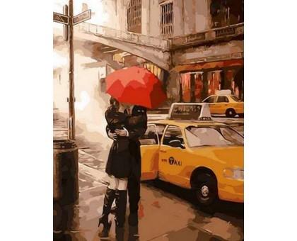 Раскраска по номерам Под зонтом счастья