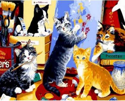 Картина по номерам Котята художники