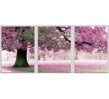Картина по номерам Триптих. Весенний цвет