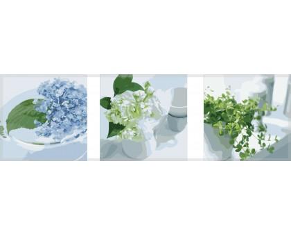 Картина по номерам Триптих. Весенний натюрморт