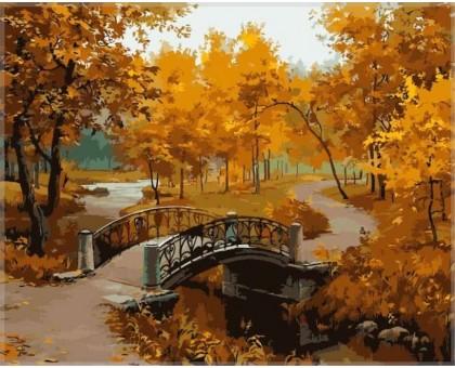 Картина по номерам Осенний парк (мост)