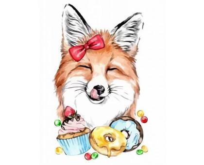 Картина по номерам Сute Fox