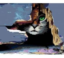 Картина по номерам Кот в засаде