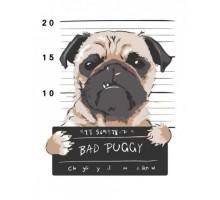 Картина по номерам Bad Puggy