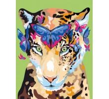 Картина по номерам Jaguar and butterflies