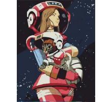 Картина по номерам Космос и Лара