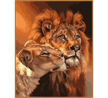 Картина по номерам Царственная пара  (в раме)