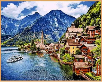 Картина по номерам Летняя Австрия (в раме)