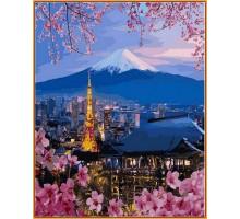 Картина по номерам Путешествие по Японии (в раме)
