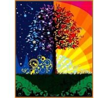 Картина по номерам Дерево счастья (в раме)