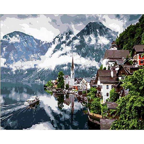 Картина по номерам Швейцарские Альпы