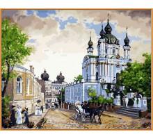 Картина по номерам Андреевский спуск (в раме)