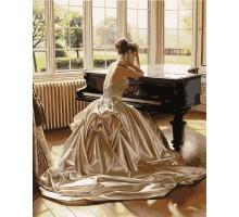Картина по номерам Девушка у рояля