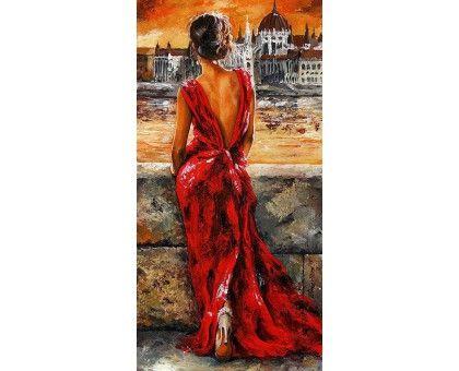 Картина по номерам Итальянка в красном