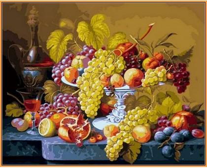 Картина по номерам Роскошный виноград (в раме)