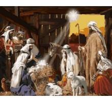Раскраска по номерам Рождение Христа