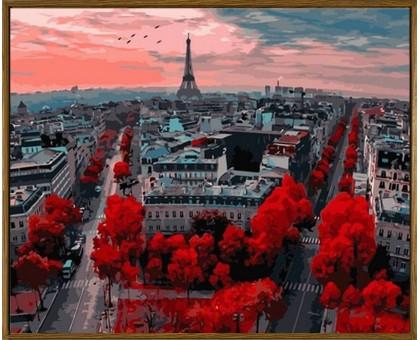 Раскраска по номерам Алые краски Парижа