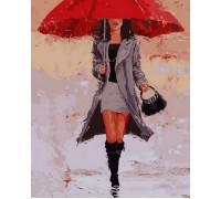 Картина по номерам Под красным зонтом