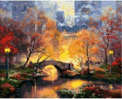 Картина по номерам Магия вечернего парка
