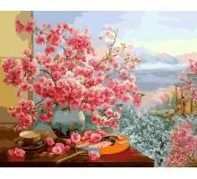 Картина по номерам В объятиях цветущей сакуры