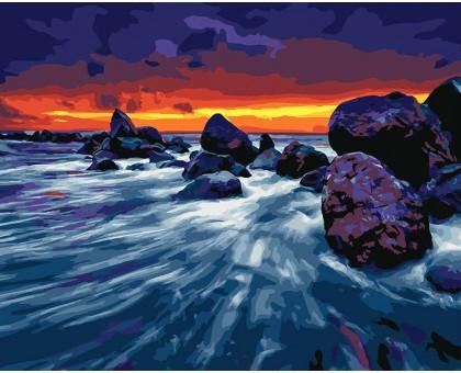 Рисование по номерам Прибрежные скалы