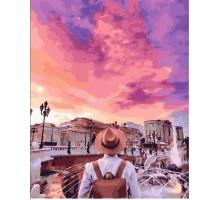 Картина по номерам Лиловый закат