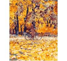 Картина по номерам Прогулка среди золотых листьев