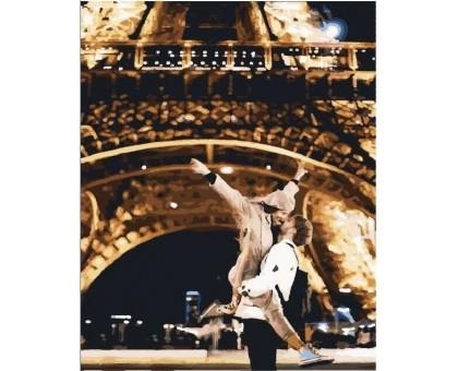 Картина по номерам Ночная прогулка в Париже