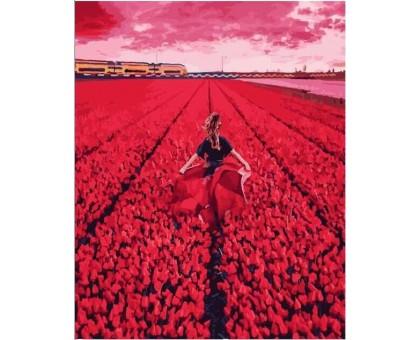 Картина по номерам Цветочное поле