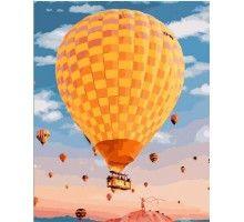 Картина по номерам Желтый воздушный шар