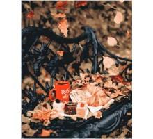 Картина по номерам Осенний чай