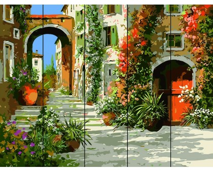 Картина по номерам Живописная улочка