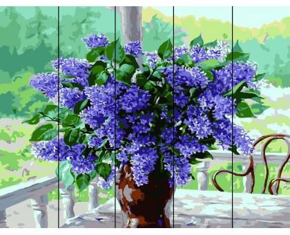 Картина по номерам Сирень в вазе