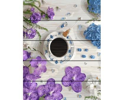 Картина по номерам Цветочный кофе-брейк