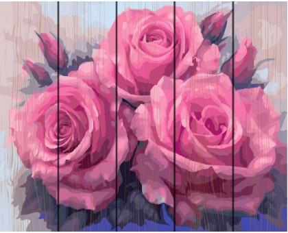 Картина по номерам Три пышные розы