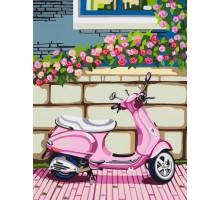 Картина по номерам Розовый мопед