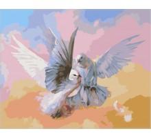 Картина по номерам Влюбленные голубки