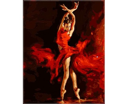 Картина по номерам Танец огня