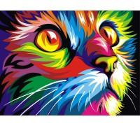 Картина по номерам Радужный кот