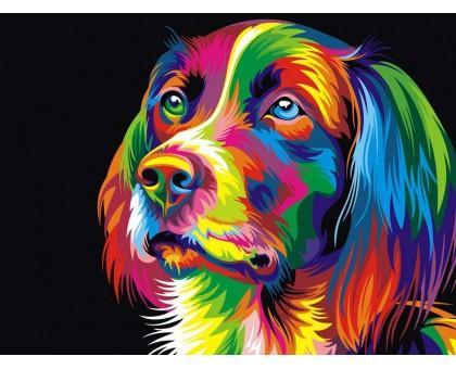 Картина по номерам Радужный пес