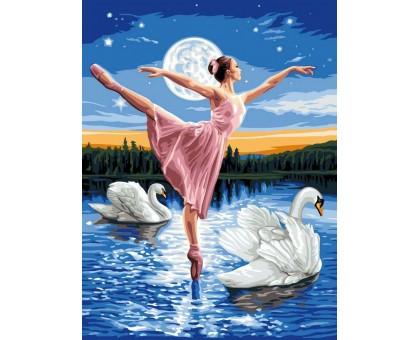 Картина по номерам Лебединое озеро