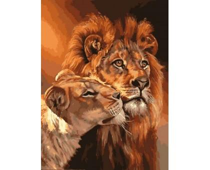 Картина по номерам Царственная пара