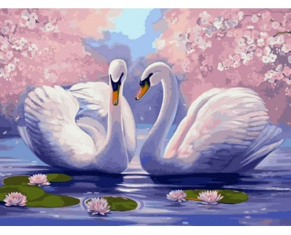Картина по номерам Лебединая верность