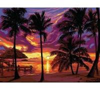 Картина по номерам Закат в тропиках