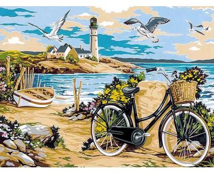 Картина по номерам Прогулка по пляжу
