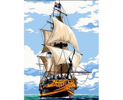 Раскраска по номерам Белоснежные паруса