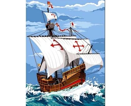 Картина по номерам Парусник Санта-Мария