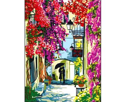 Раскраска по номерам Цветочная улица