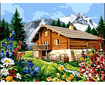 Картина по номерам Домик в Альпах