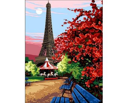 Картина по номерам Цветущий Париж